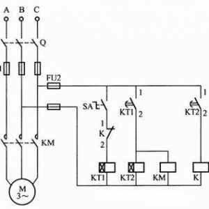 第一种电动机间歇运行控制电路接线图